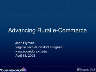 Advancing Rural e-Commerce