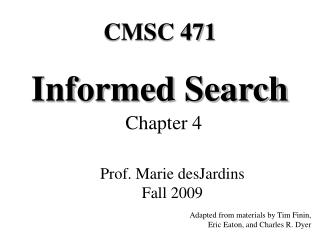 Informed Search