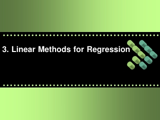 3. Linear Methods for Regression