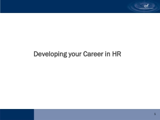 Developing your Career in HR