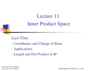 Lecture 11  Inner Product Space