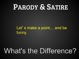 Parody & Satire