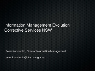 Information Management Evolution Corrective Services NSW