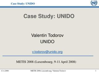 Case Study: UNIDO