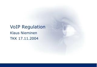 VoIP Regulation