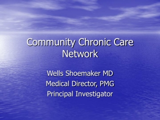 Community Chronic Care Network