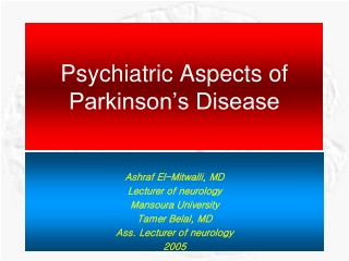 Psychiatric Aspects of Parkinson's Disease
