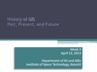 History of GIS Past, Present, and Future