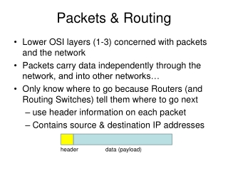 Packets & Routing