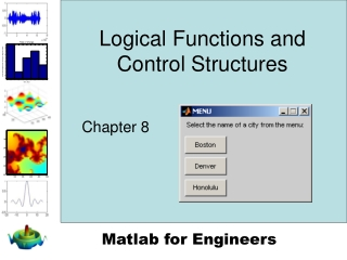 Logical Functions and Control Structures