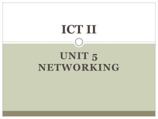 ICT II