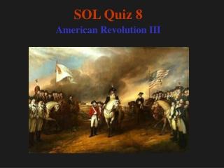 SOL Quiz 8