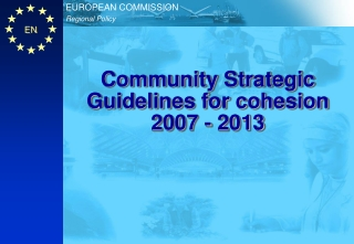 Community Strategic Guidelines for cohesion 2007 - 2013