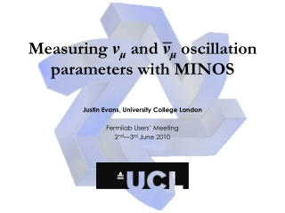 Measuring  ν μ  and  ν μ  oscillation parameters with MINOS
