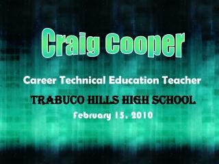 Career Technical Education Teacher