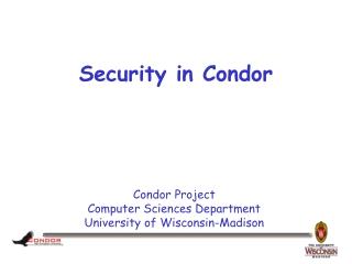Security in Condor