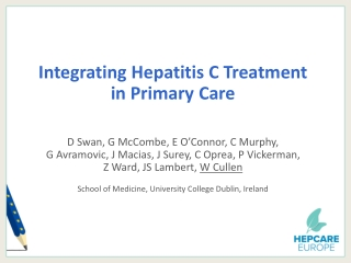 Integrating Hepatitis C Treatment  in Primary Care