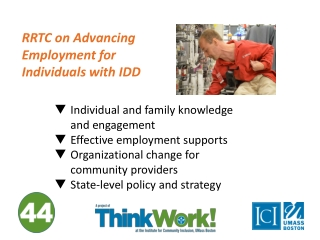 RRTC on Advancing Employment for Individuals with IDD
