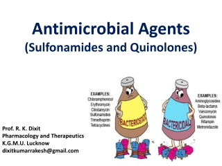Antimicrobial Agents  (Sulfonamides and Quinolones)