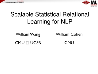 Scalable Statistical Relational Learning for NLP