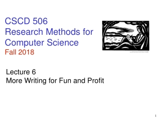 CSCD 506 Research Methods for Computer Science Fall 2018