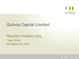 Quince Capital Limited