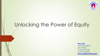 Unlocking the Power of Equity