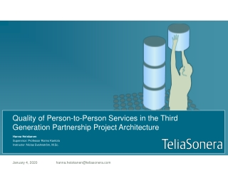 Quality of Person-to-Person Services in the Third Generation Partnership Project Architecture