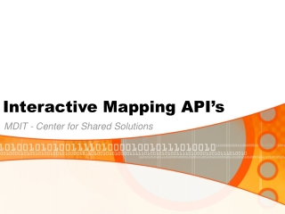 Interactive Mapping API's