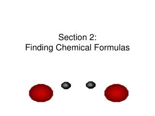 Section 2: Finding Chemical Formulas