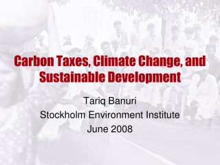 Carbon Taxes, Climate Change, and Sustainable Development