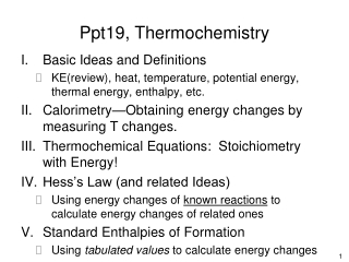 Ppt19, Thermochemistry