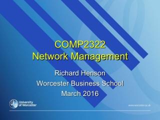COMP2322  Network Management