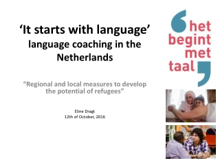 'It starts with language' language coaching in the Netherlands