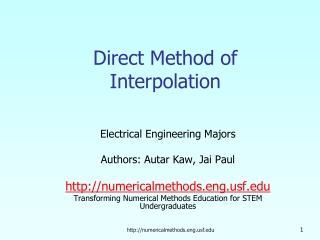 Direct Method of Interpolation