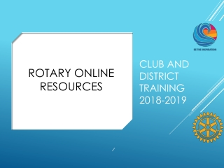 Club and District Training 2018-2019