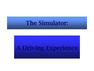 The Simulator: