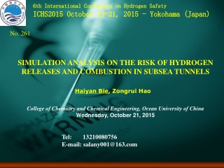 SIMULATION ANALYSIS ON THE RISK OF HYDROGEN RELEASES AND COMBUSTION IN SUBSEA TUNNELS