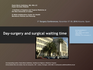 Day-surgery and surgical waiting time