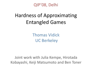 Hardness of Approximating Entangled Games