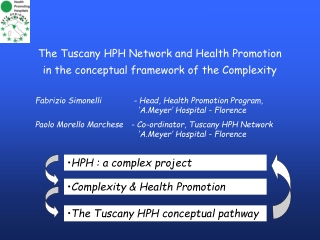 The Tuscany HPH Network and Health Promotion in the conceptual framework of the Complexity