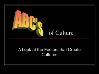 of Culture