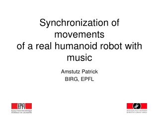 Synchronization of movements of a real humanoid robot with music