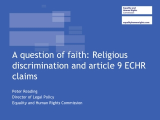 A question of faith: Religious discrimination and article 9 ECHR claims
