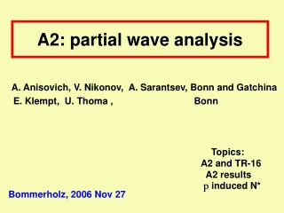 A2: partial wave analysis