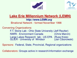 Lake Erie Millennium Network (LEMN) LEMN
