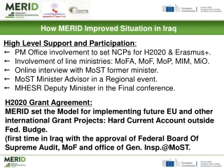 How MERID Improved Situation in Iraq