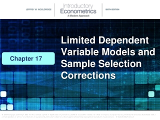 Limited Dependent Variable Models and Sample Selection Corrections