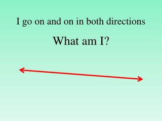 I go on and on in both directions