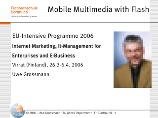Mobile Multimedia with Flash
